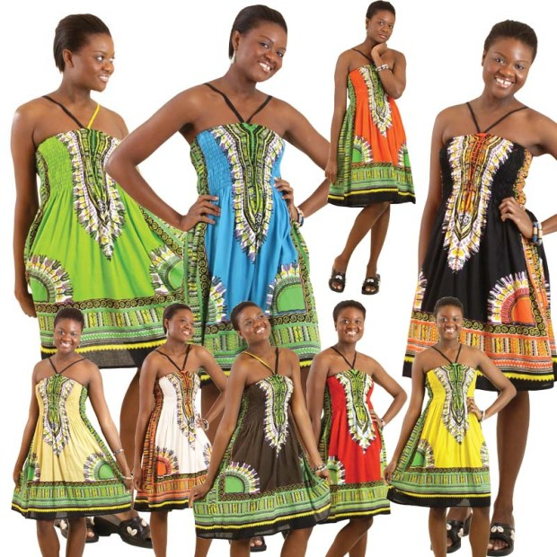 DASHIKI HALTER DRESS