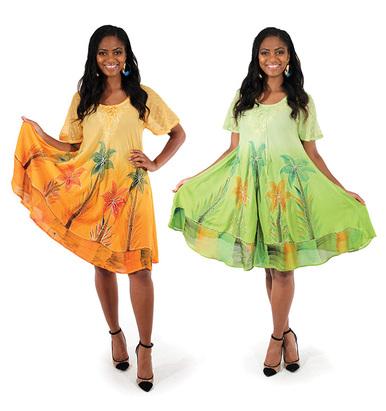 CHIC TROPICAL PRINT DRESS